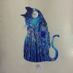 Catwood watercolor customwork
