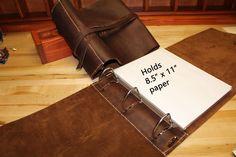 25 best leather binder images on pinterest leather binder leather