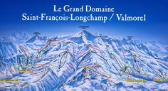 mapa sjezdovek Longchamp, Mount Everest, Saints, Mountains, Nature, Travel, Saint Francis, Santos, Naturaleza