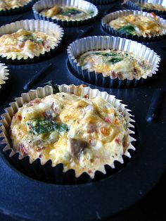 Vegetable Quiche To Go.... Made for a baby shower and they turned out yum!  I used real egg.