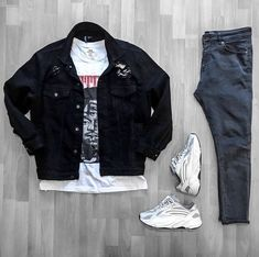 Behind The Scenes By fvshionhub Dope Outfits For Guys, Swag Outfits Men, Stylish Mens Outfits, Simple Outfits, Hype Clothing, Mens Clothing Styles, Yeezy Outfit, Outfit Grid, Urban Outfits