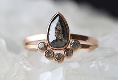 Natural Black Rose Cut Diamond Ring – Alexis Russell