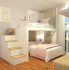 71 marvelous modern bedroom decorating for your cozy bedroom ideas 17 ~ Design And Decoration is part of Girl bedroom designs - Kids Bedroom Designs, Bunk Bed Designs, Room Design Bedroom, Room Ideas Bedroom, Home Room Design, Small Room Bedroom, Small Rooms, Master Bedroom, Bedroom Brown