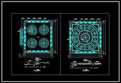 CAD Library-AutoCAD Blocks & Drawings : ★【Ceiling Design Template】★