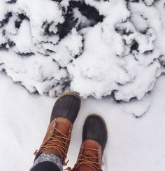 """Need some of these duck shoes. Not sure why I call them """"duck"""" shoes. <<< they're called bean boots. You can get them only in Maine, maybe New Hampshire, and online Winter Snow, Winter Time, Autumn Summer, Winter Season, Winter Christmas, Fall Winter, Xmas, One Photo, No Rain"""