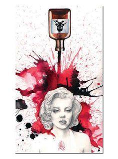 """""""Poisoned Marilyn"""" Art Print by Black Market Art"""