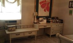 Vintage desk and bench combo
