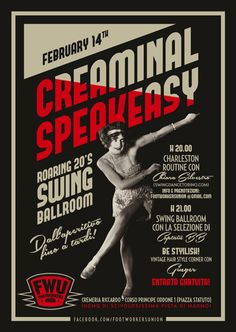 FootWorkersUnion - Poster Creaminal Speakeasy #poster #vintage #swing #graphic #lindyhop