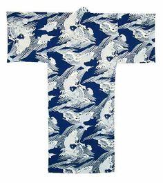 Koi design Kimono Yukata, XL and XXXL
