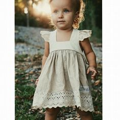 I love the sleeves on this dress! Toddler Dress, Toddler Outfits, Baby Dress, Kids Outfits, Little Girl Dresses, Nice Dresses, Girls Dresses, Flower Girl Dresses, Little Girl Fashion