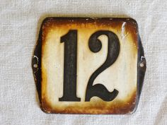 Starting to list more house numbers in my shop, like this vintage enamel house number from Holland (number 12). Available at AtticAntics, $25.00