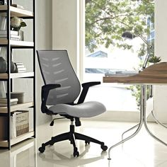 Enhance every aspect of your seating experience by choosing this affordable and fully functional Modway Force Mesh Office Chair in Gray. High Back Office Chair, Mesh Office Chair, Office Chairs, Modern Home Office Furniture, Counter Height Chairs, Wooden Dining Room Chairs, Conference Room Chairs, Wrought Iron Patio Chairs, Mesh Chair