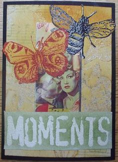 ATC made with rubber stamps by Lillibelle