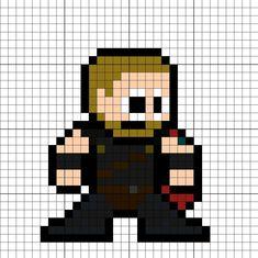 Thor Ragnarok Perler Bead Pattern Melting Beads, Perler Bead Art, Minecraft Ideas, Pearler Beads, Venom, Spiders, Beading Patterns, Animal Crossing, Pixel Art