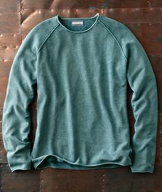 Effortlessly Cool Men's Sweaters - Green Room Sweater - Carbon2Cobalt