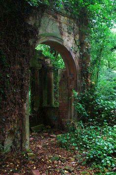 Medieval portal, Lincolnshire, England.