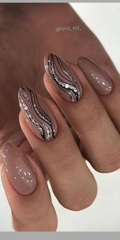 Pin on sempicci art nails Glam Nails, Classy Nails, Stylish Nails, Trendy Nails, Cute Nails, Pink Nail Art, Pink Nails, Glitter Nails, Classy Nail Designs