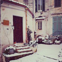 How romantic is that snow in the Sassi? At L'Albero di Eliana, eco-friendly b&b Matera.