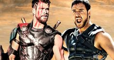 A new report claims that Chris Hemsworth and Russell Crowe are working on a Gladiator sequel, which will follow the Thor star as Maximus' son. Gladiator Cast, Gladiator Maximus, Elsa Pataky, Joaquin Phoenix, Chris Hemsworth Wife, Thor, Taika Waititi, Russell Crowe, Ridley Scott