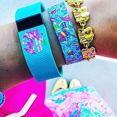 Lilly Pulitzer Monograms make the perfect addition to any Fitbit!