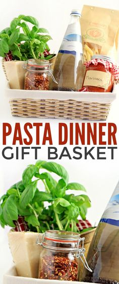 This Italian-inspired gourmet pasta dinner gift basket includes everything the recipient needs to enjoy a special pasta dinner.  It's the perfect gift for someone who doesn't often take the time they need to treat themselves.