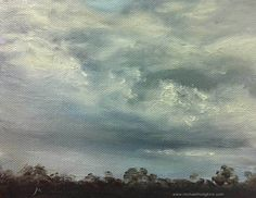 A quick oil sketch of a stormy sky. I think this was done as a class demo if I remember correctly. I was teaching some cloud techniques. ... See my paintings for sale at www.bit.ly/shop-mh ... #painting #oilpainting #landscapepainting #landscape #artist #landscapeart #oiloncanvas #australianlandscape #australianlandscapepainting #australianlandscapes #australia #in #instagramart #instagood #contemporarypainting #worldofartists #galleries #instaartist #artstudio #australianart…