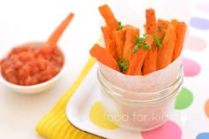 Sweet Potato Sticks - fun party food that you can make in advance and simply reheat!