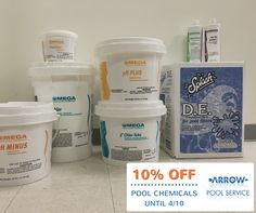 Call (610) 731-7665 to get 10% OFF pool chemicals through 4/10.   #poolopening #poolservice #poolchemicals #arrowpool #papools #pennsylvania