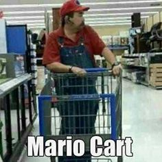 Meanwhile at Walmart ...Mario has apparently escaped from Mario Cart again!