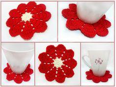 (via Khin's Craft Space: 9 Petals Flower Doily Crochet FREE Pattern)