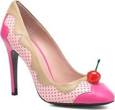 Zapatos de tacón Cherry stilleto by Boutique Moschino sarenza el rosa estampado lunares