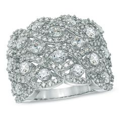 gold weave ring   CT. T.W. Diamond Weave Ring in 10K White Gold - Zales