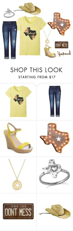 """""""Texas Girl"""" by sonya-bernhart on Polyvore featuring City Chic, Charles by Charles David, Kate Spade, BillyTheTree and San Diego Hat Co."""