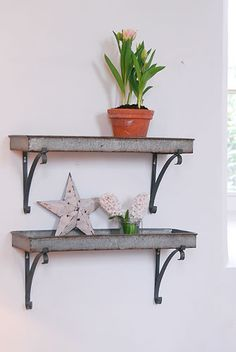 45 best metal shelves images shelves metal shelves metal shelving rh pinterest com decorative metal letters for shelves metal decorative shelf brackets