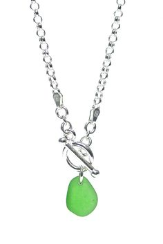 Toggle Sea Glass Necklace – Fishers Finery