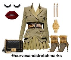 """""""Ivette's style"""" by ivette-mamii-zerquera on Polyvore featuring Balmain, Christian Louboutin and Chanel"""