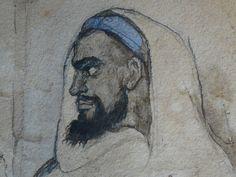 CHASSERIAU Théodore,1846 - Arabe barbu et autres Figures - drawing - Détail 08