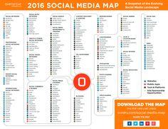 Mapa Social Media 2016