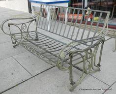 Salterini swinging porch sofa 1940s  offered on eBay starting at $850.00
