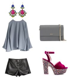 """""""Sem título #1703"""" by nanda-b ❤ liked on Polyvore featuring Sophia Webster and DKNY"""