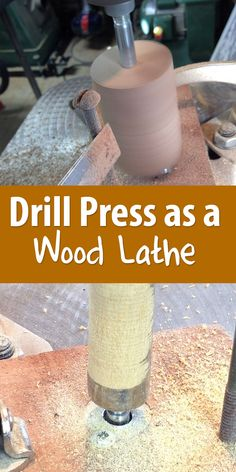 Want a wood lathe? Make one out of a drill press in 45 minutes.