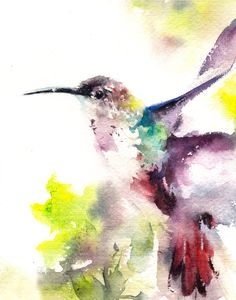 Hey, I found this really awesome Etsy listing at https://www.etsy.com/listing/225782737/hummingbird-bird-watercolor-painting-art