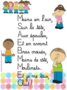 Comptines silence (LaCatalane).pdf - Fichiers partagés - Acrobat.com French Teaching Resources, Teaching French, Teaching Kids, Music Activities, Preschool Activities, French Poems, Kindergarten, Preschool Writing, French Classroom