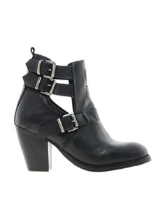 Bronx Leather Cut Out Ankle Boots #ASOS
