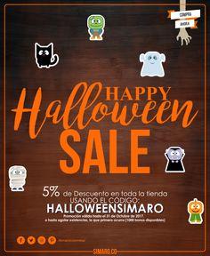 Para este Halloween obtén un 5% de Descuento en toda nuestra tienda http://simaro.co/  usando el código: HALLOWEENSIMARO. Simaro Colombia #SimaroColombia #SimaroCo 🇨🇴 #Halloween #HalloweenSimaro 🎃 #Party #Fiesta #Disfraz #Costume #LoEncontramosPorTi #WeFindItForYou #SimaroMx 🇲🇽 #SimaroBr 🇧🇷 #Promo #Novedades #Compras #Regalos #Candy 🍫🍬 #Mask #Mascara #Ofertas #Sale #Promociones #Virtual #ComercioElectronico #Envios #Delivery #CompraOnline