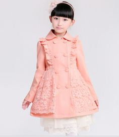 Spring 2015 new Korean girls coat long sections spring models cotton trench coat