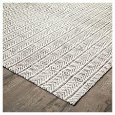 Grey Geometric Cotton/Jute Rug - Anji Mountain