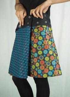 jupe ethnique réversible marque pacap