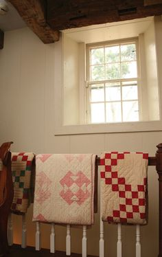 Use your antique quilts as part of your decorating, instead of keeping them out of sight or in a closet.