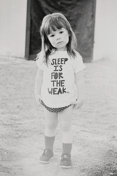 Sweet Paisley in the 'Sleep Is For The Weak' baby/toddler tee from Huckleberry Threads.